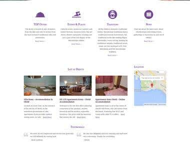 Website for local online accommodation