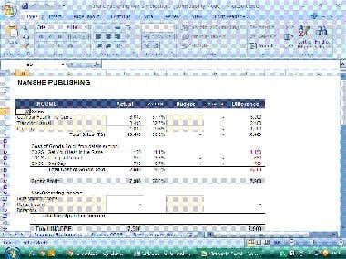 Income Statement with Data entry template