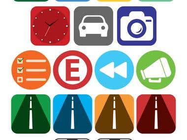 Icons for an app