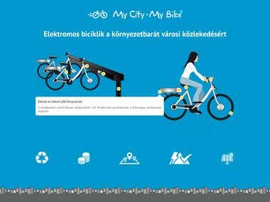 Interactive landing page about electric bike sharing system