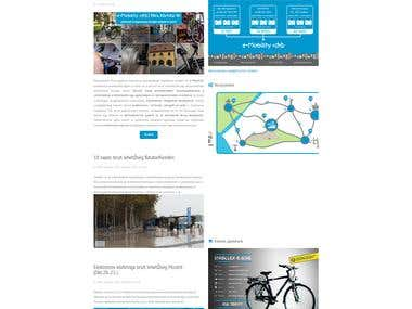 The official website of Public Bike System Hungary