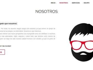 Sitio web informativo de Mr. Hoose.