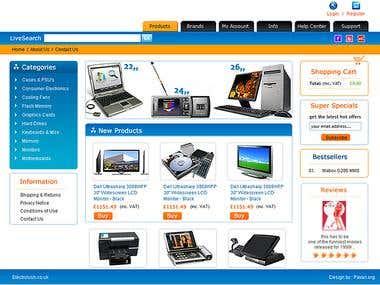 e commerce shopping store website