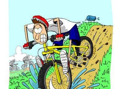 Amateur biker