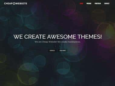 Nice one page site fully responsive