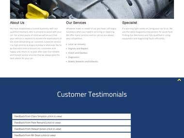 Responsive one page website