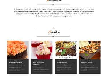 Responsive website with blog and ecommerce