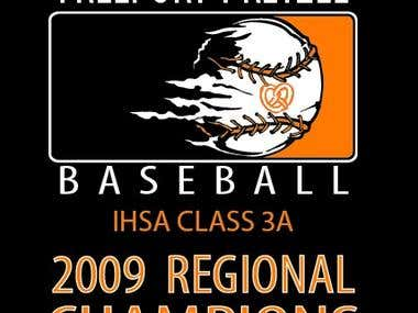 Regional Baseball Champions T-shirt design
