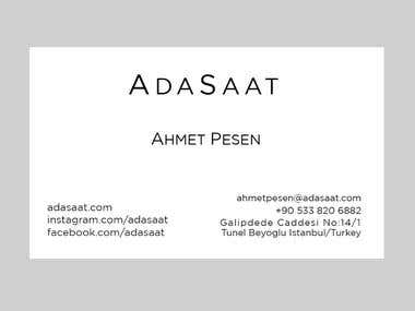 Adasaat Business Card Design