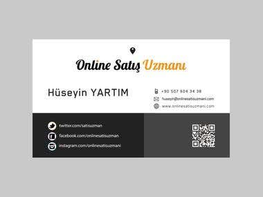 Online Satis Uzmani Business Card Design