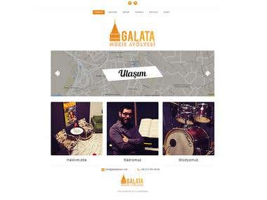 Galata Music Web Site Design