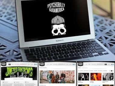 "Diseño Web \""Psychobilly Sudamerica\"""