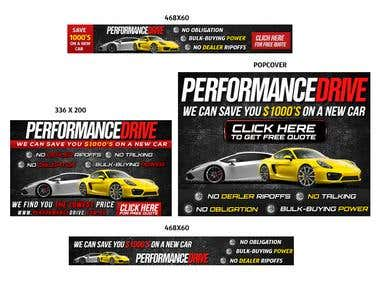 Banner set for PerformanceDrive