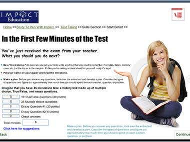 eLearning How To Take A Test Course