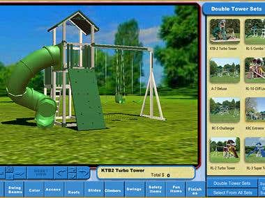 3d Realtime App to design Swingset Online