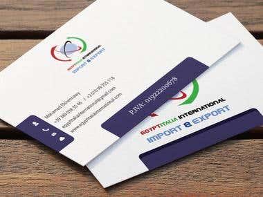 Business Card Egypt Italia Import Export