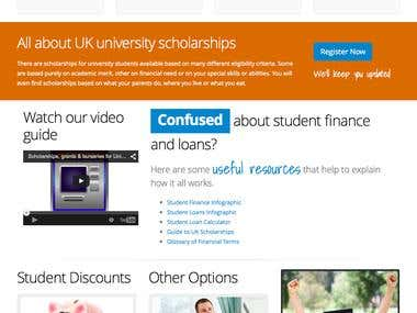 Redesign of Scholarship site