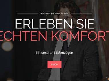 Custom clothing-online store