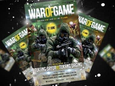 War of Game Flyer Template