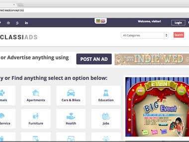 AdClassiads WordPress Website