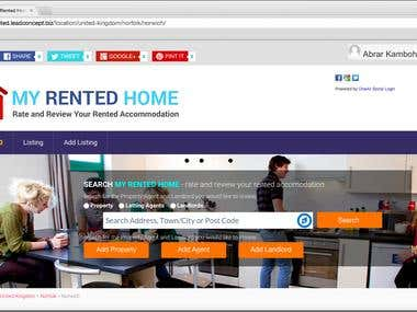 My Rented Home Website
