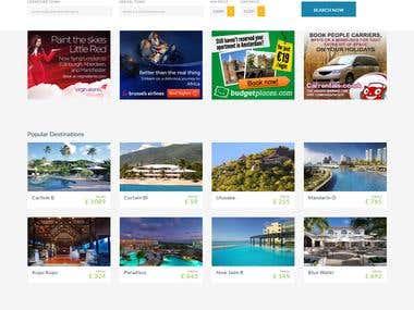 Affiliate travel website