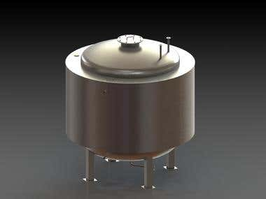 Double Jacket Water Tank