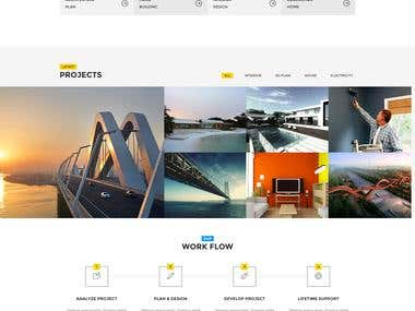 Architect PSD to HTML Conversion
