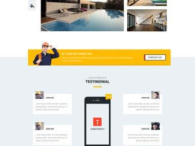Construct PSD to HTML Conversion