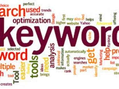 I will do Keyword Research find Top 5 words