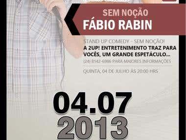 Flyer Fábio Rabin