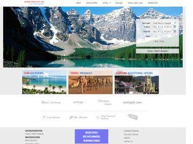 Travel site and hotel booking
