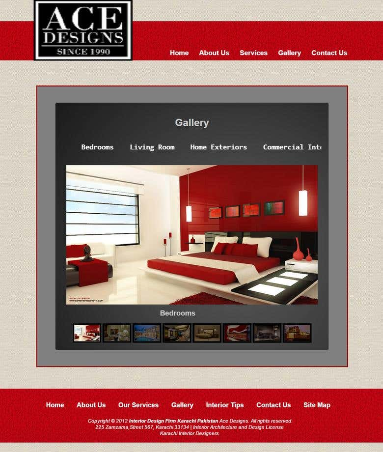 Ace Design Interior Design Website Freelancer