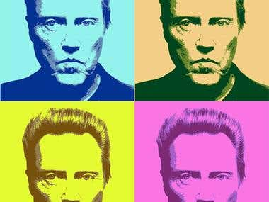 in the style of pop art
