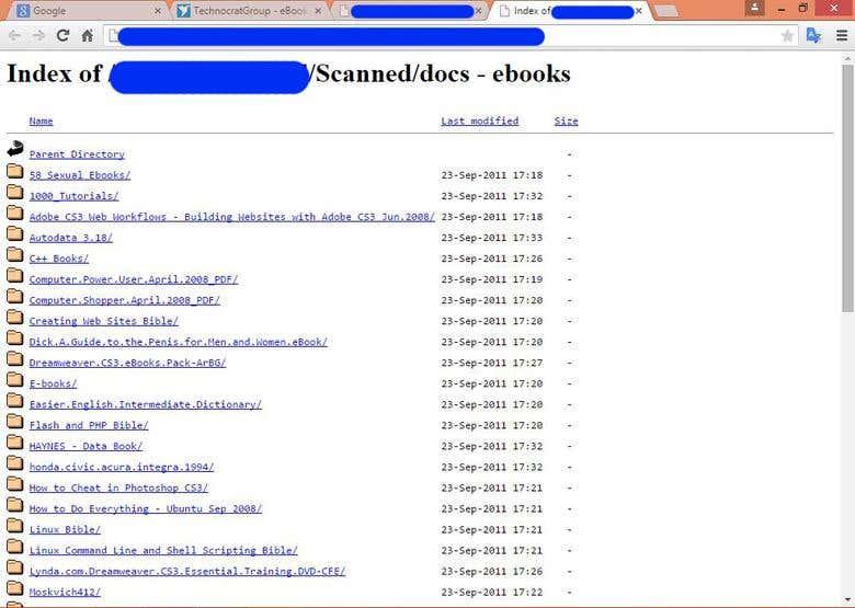 Parent Directory & Google Database Explorer   Freelancer