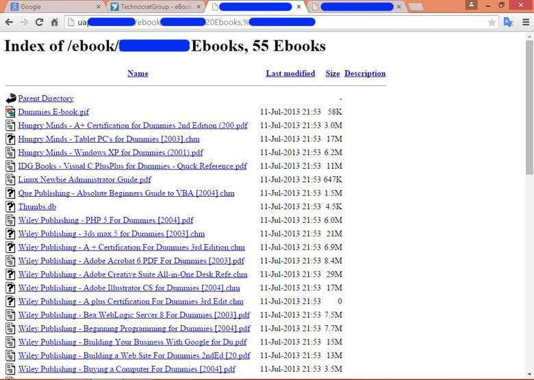 Parent Directory & Google Database Explorer | Freelancer