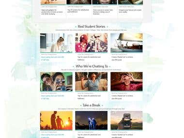 Wordpress College Blog responsive Design from PSD