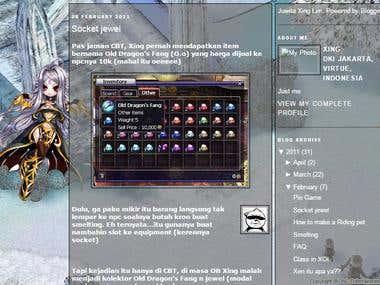 Blogging - Game Guide Compilation / Maker