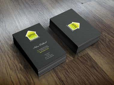 APW Home Improvements - Business Card Design