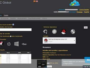 Sistema para venta y configuracion de servidores.
