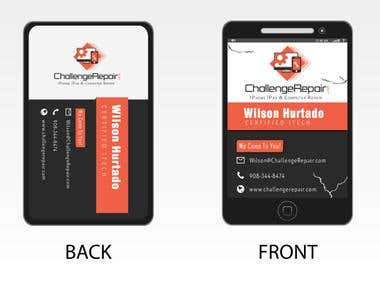 Challegerepair.com Business Card