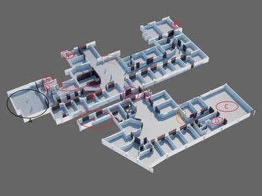 Small hospital floor plan
