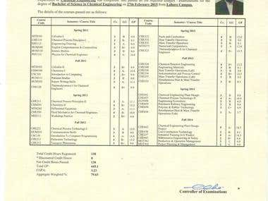 Chemical Engineering Transcript