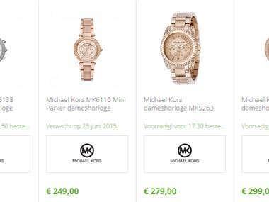Magento watch store