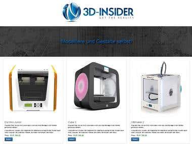 Landing Page 3D-Insider.de
