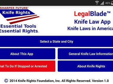 LegalBlade -  - Android, iOS, API and Graphic