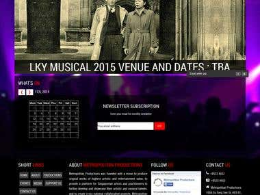 Musical Venue Website