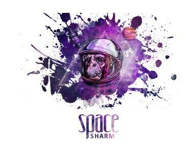 Space sharm Logo for the t-shirt
