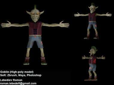 Goblin high-poly