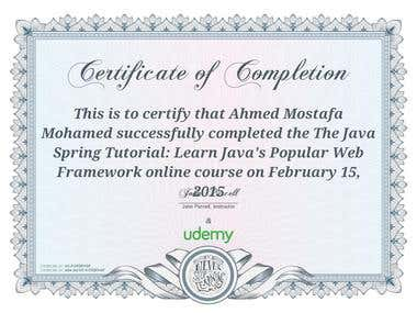 Spring Certification
